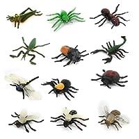 SODIAL jeu de 12 pcs de Jouets du modele d'animal de multicouleurs pour enfants