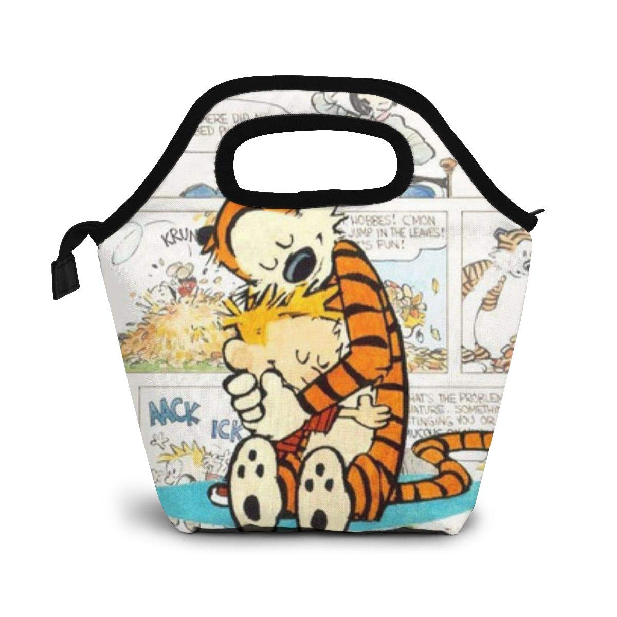 ZYRBsys Hope Tree Fashion Custom Calvin and Hobbes Waterproof Kids Insulated Lunch Portable Carry Tote Picnic Storage Bag Lunch Box Food Bag Handbag Cooler Warm Pouch Tote Bag for School Work Office