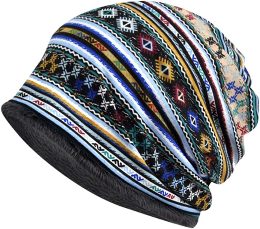 Winsummer Soft Slouchy Ponytail Beanie Hat Stretch Scarf Cap Winter Knit Skull Cap for Women and Girls