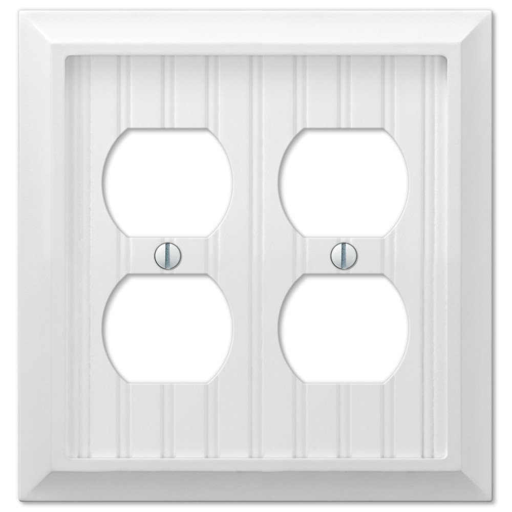 Cottage White Wood Single Blank Wall Switch Plate Outlet Cover