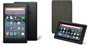 Fire HD 8 Tablet (32 GB, Black, With Special Offers) + Amazon Standing Case (Charcoal Black)