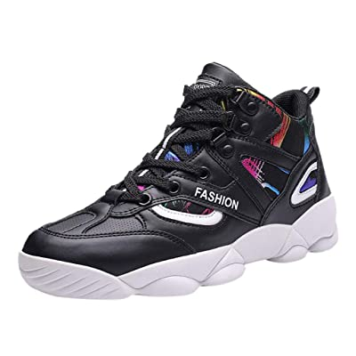 Men's High-Top Sneakers - Summer Breathable Lightweight Basketball Shoes Outdoors Sport Walking Running Shoe at Women's Clothing store