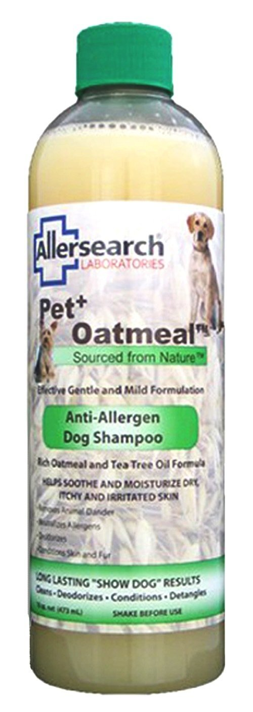 Allersearch Laboratories Pet Plus Oatmeal Anti-Allergen Dog Shampoo, 16 oz.