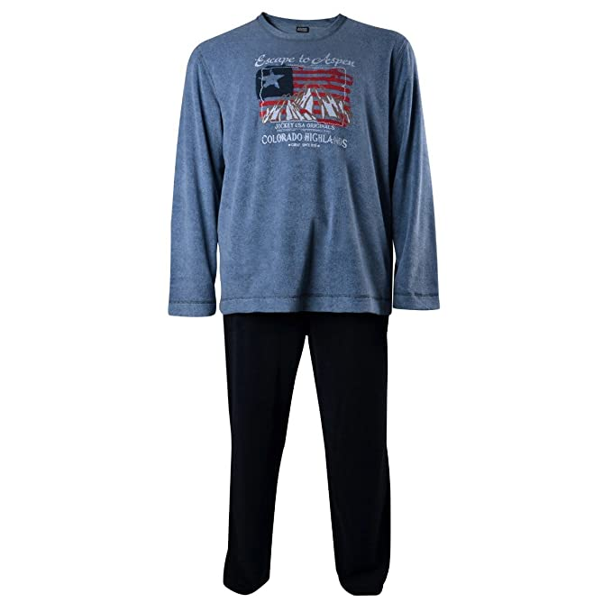 Jockey Frottee Pyjama Azul Oversize, 2xl-8xl:3XL