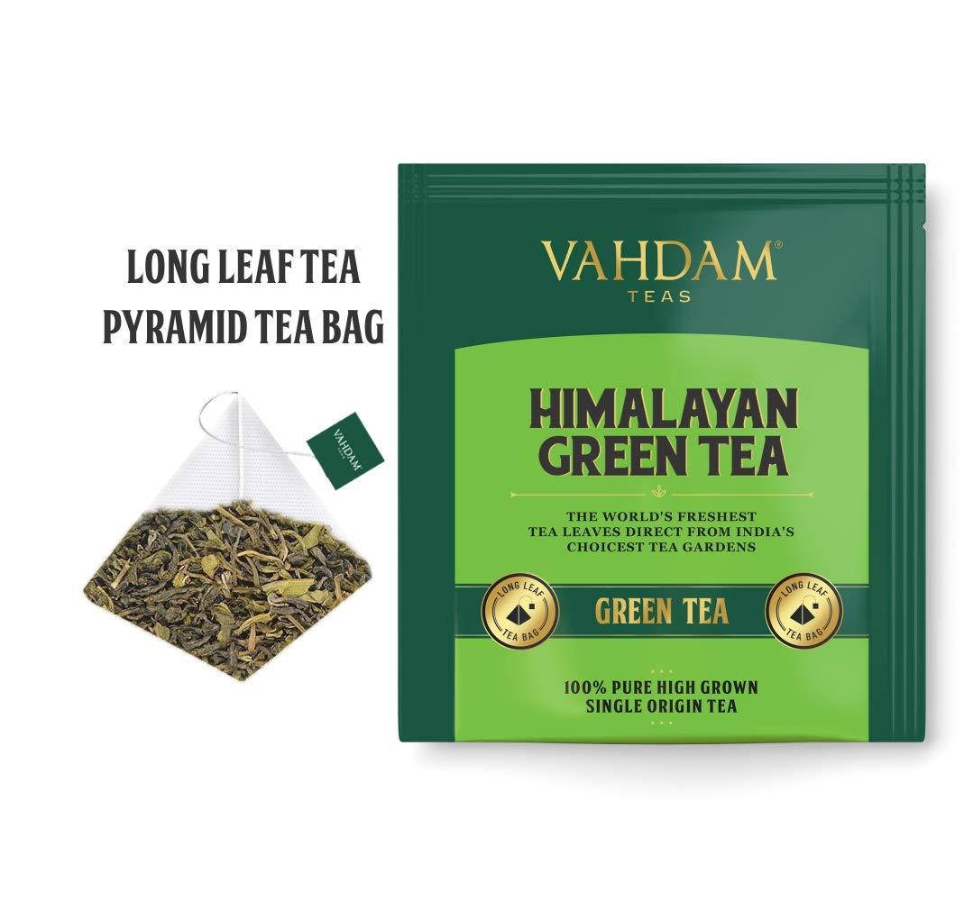 Hojas de té verde orgánico de Himalaya (30 bolsitas de té), té de pérdida de peso natural 100%, té de desintoxicación, té adelgazante, hojas verdes de té ...