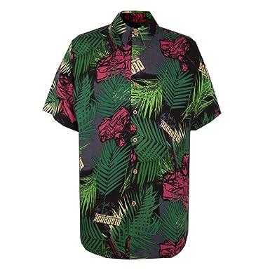 0dd3bcf0 Deadpool Tropical Woven Button Down Shirt at Amazon Men's Clothing ...