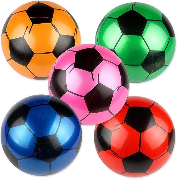Amosfun 5 Piezas de balones de fútbol inflables para niños ...