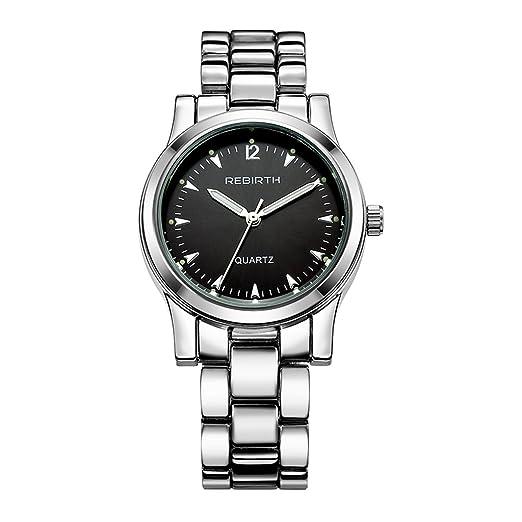 Correa de acero informal YPS unisex Las mejores marcas de lujo vestido de cuarzo WTH8495: Amazon.es: Relojes