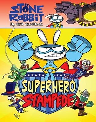 book cover of Superhero Stampede