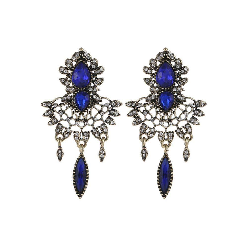 Malltop Shawn Women Earrings Elegant Bohemian retro exaggeration stud earrings Rhinestone Retro Dangle Jewelry