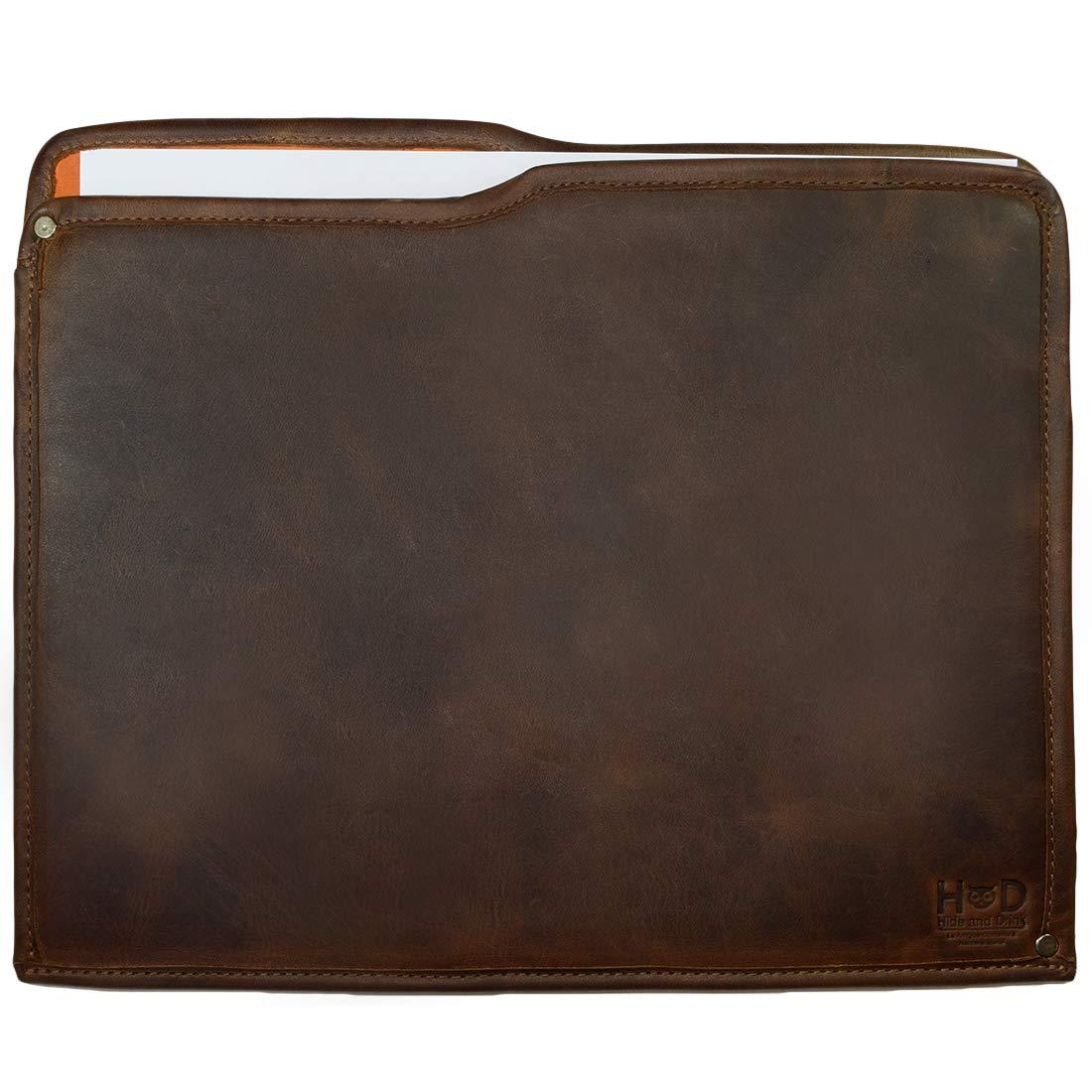 Hide & Drink, Rustic Leather Manila Folder, Document Holder/Office & Work Essentials Handmade, Includes 101 Year Warranty :: Bourbon Brown by Hide & Drink