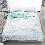 Enjoylife Fresh Style Animal Printed Thin Quilt Cotton Soft Cartoon Comforter Beetle Bedspread Twin(59''x79'') for Girls Boys