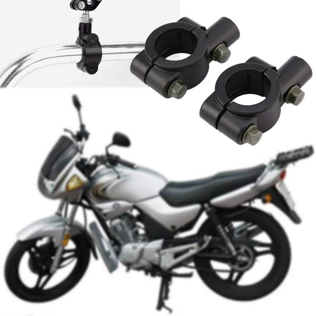 2pcs universel moto guidon r/étroviseur montage adaptateur support pince