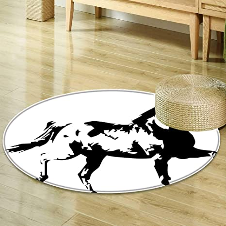 Amazon Com Round Rugs For Bedroom Apartment Decor Animal Theme A