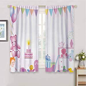 Thermal Insulating Blackout Curtain Kids Birthday Baby ...