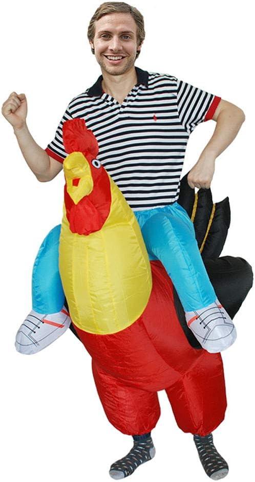 JJAIR Disfraz de Disfraces de Halloween de Gallo Rojo Inflable ...