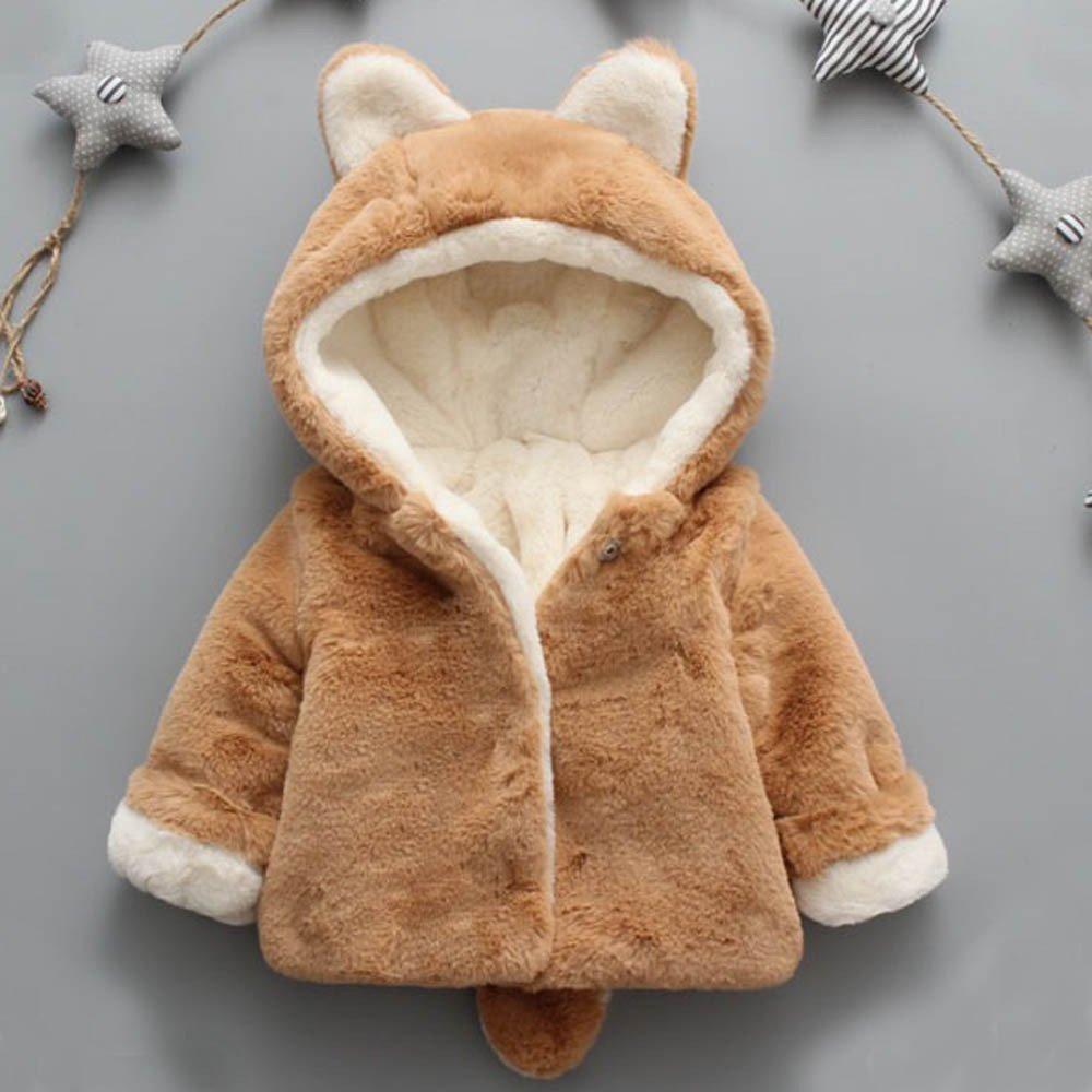 ❤️ Modaworld Beb/é Infantil Ni/ñas Ni/ños Oto/ño Invierno Chaqueta con Capucha Capa Chaqueta Gruesa Ropa de Abrigo Chaquetas Outwear Ropa de Abrigo Beb/é