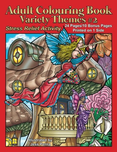 Adult Colouring Book Variety Themes #2: Stress Relief Activity (Volume 2)