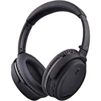 Avantree ANC032 Active Noise Cancelling Bluetooth Headphones with Mic, Comfortable & Foldable Wireless Headphones Over Ear,Wireless Wired Hi-Fi Stereo Headset for Travel Work TV PC Cellphone - Black