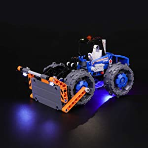 BRIKSMAX Led Lighting Kit for Technic Dozer Compactor -Compatible with Lego 42071 Building Blocks Model- Not Include The Lego Set