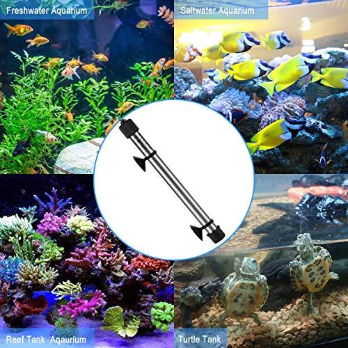 Hygger Titanium Tube Submersible Pinpoint Aquarium Heater with Digital Thermostat,IC Temp Controller 200W