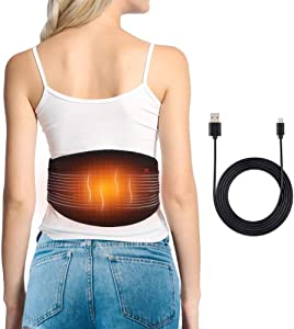 Heating Pad Waist, USB Heating Pad for Back Pain, Heat Wrap Relief for Lower Back Arthritis Strains Stiffness Spine Pain, Heat Compress for Abdominal Menstrual Cramps, Fits Men and Women