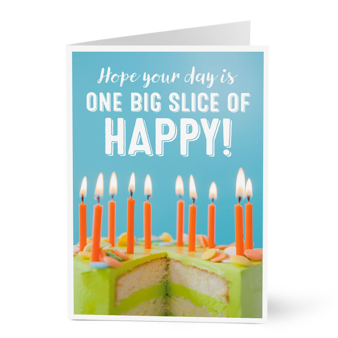 Hallmark Business Birthday Card for Employees (Big Slice of Happiness) (Pack of 25 Greeting Cards)