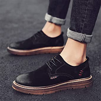 Amazon.com: Gobling Mens Oxfords Modern Classic Simple Dress Shoes Retro Round Toe Lace-up Business Casual Shoes: Clothing