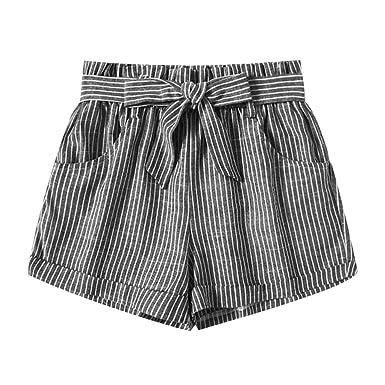 Mrtom Rayas Pantalones Cortos Mujer De Vestir Verano
