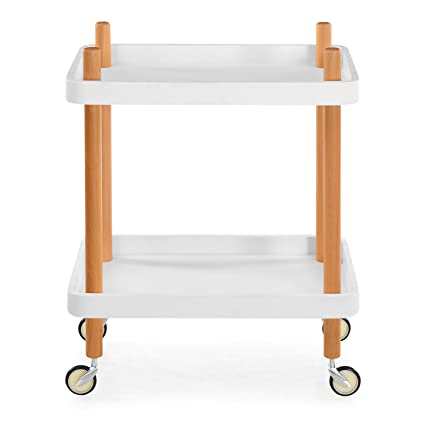 @Home by Nilkamal Prima Kitchen Trolley (White)