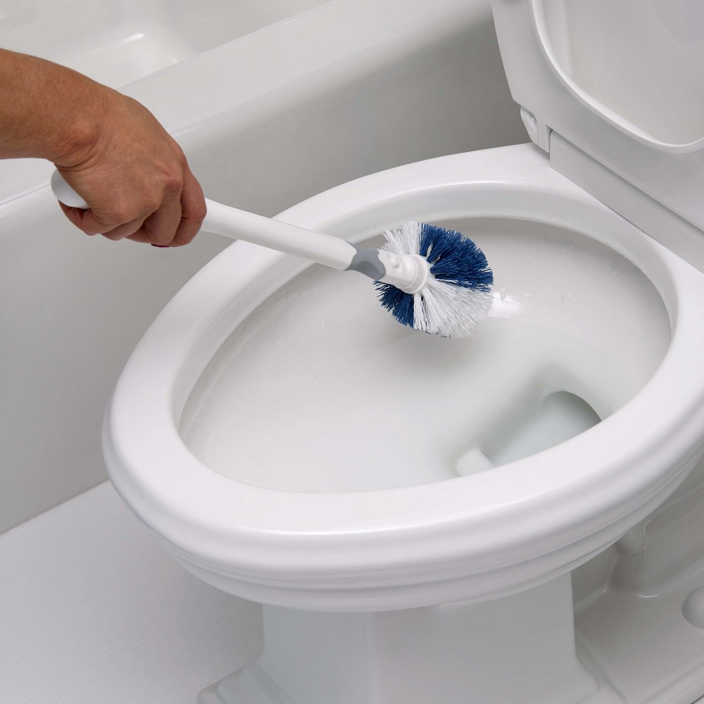 Unger No-Drip Toilet Brush Set