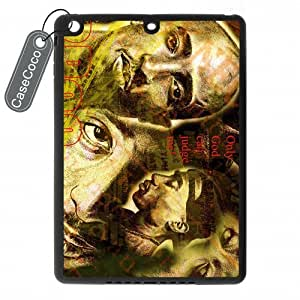 CASECOCO Tupac iPad Air Case-- Hard White Back / Black Rubber Sides Case for iPad Air by ruishername