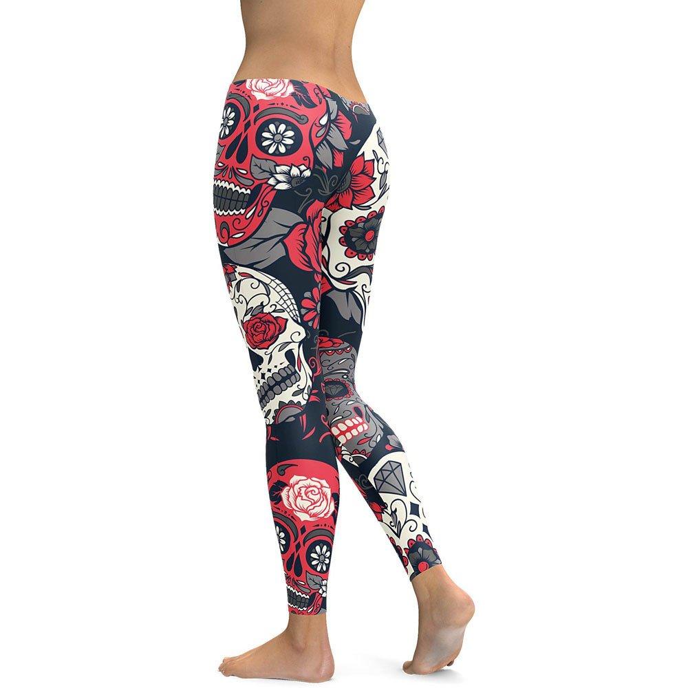 Oyedens Pantaloni Donna Vita Alta Leggings Donna Push Up Leggings da Donna Casual Sport Pantaloni da Yoga Pantaloni A Matita-Pantaloni Donna Tuta Leggins Sport Donna 2019 Pantaloni Yoga da Donna