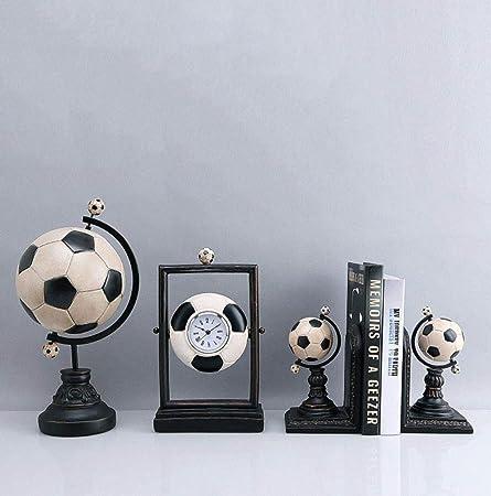 ZXL fútbol Bloque de Libro Baloncesto Decoración Reloj de ...