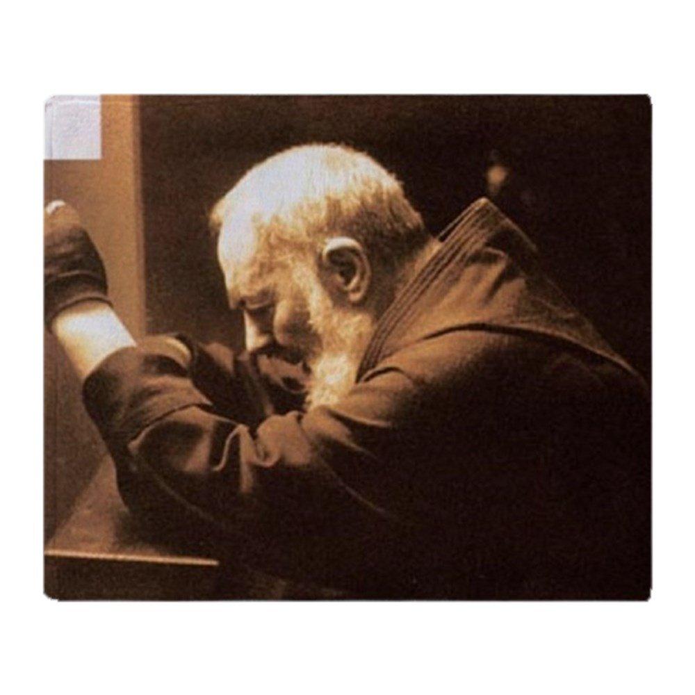 CafePress – Padre Pio – ソフトフリーススローブランケットブランケット、50