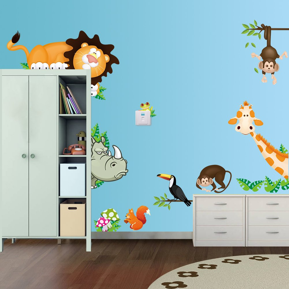 Amazon rainbow fox lovely blooms zoo nursery childrens room amazon rainbow fox lovely blooms zoo nursery childrens room decorative wall stickers rf001 baby amipublicfo Choice Image