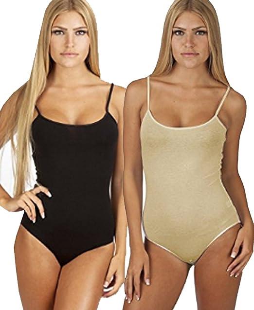 15c9d4f942 Snap Crotch Thin Strap Leotard Bodysuit Camisole Bodysuit Camisole (Small