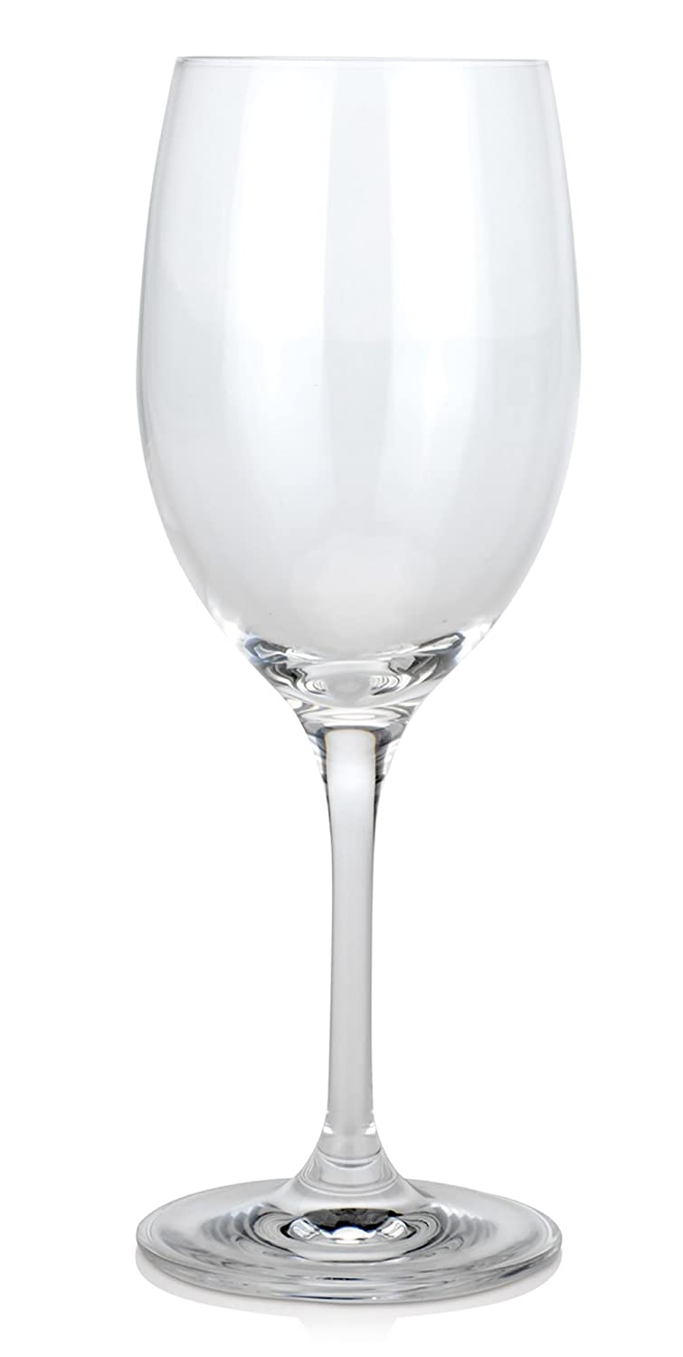 BergHOFF Bistro Crystal White Wine Glasses, Set of 6, Trasnparent, 8 x 8 x 21 cm 8515284