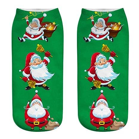 Calcetines de Navidad 3D Patrones Calcetín Calcetines de Navidad Calor de Invierno Santa Claus