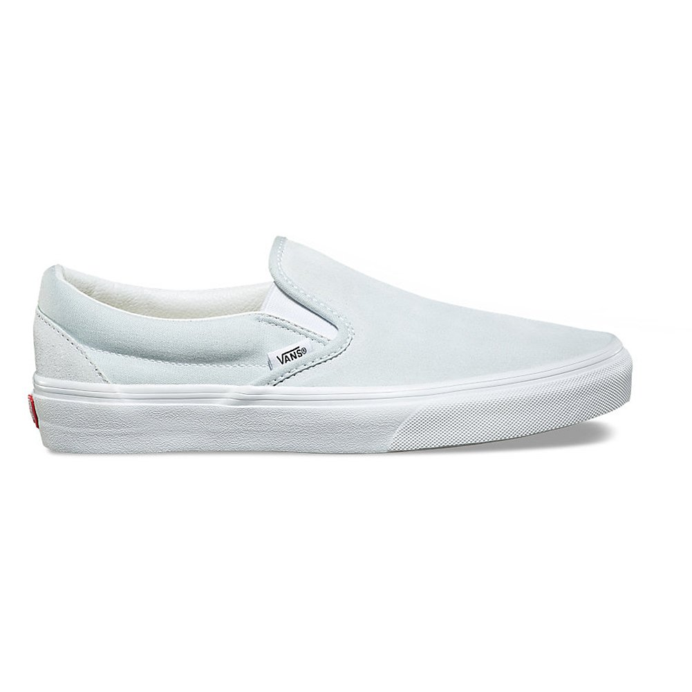 9f9f631be17 Amazon.com | Vans Unisex Suede Canvas Slipon Shoes Illusion Blue/True White  Size M11/W12.5 | Shoes