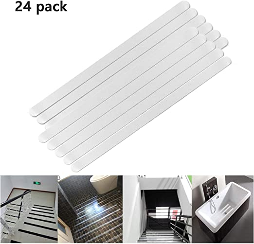 5pcs Transparent Waterproof Stair Bathroom Bathtub Non Slip Stickers Tape