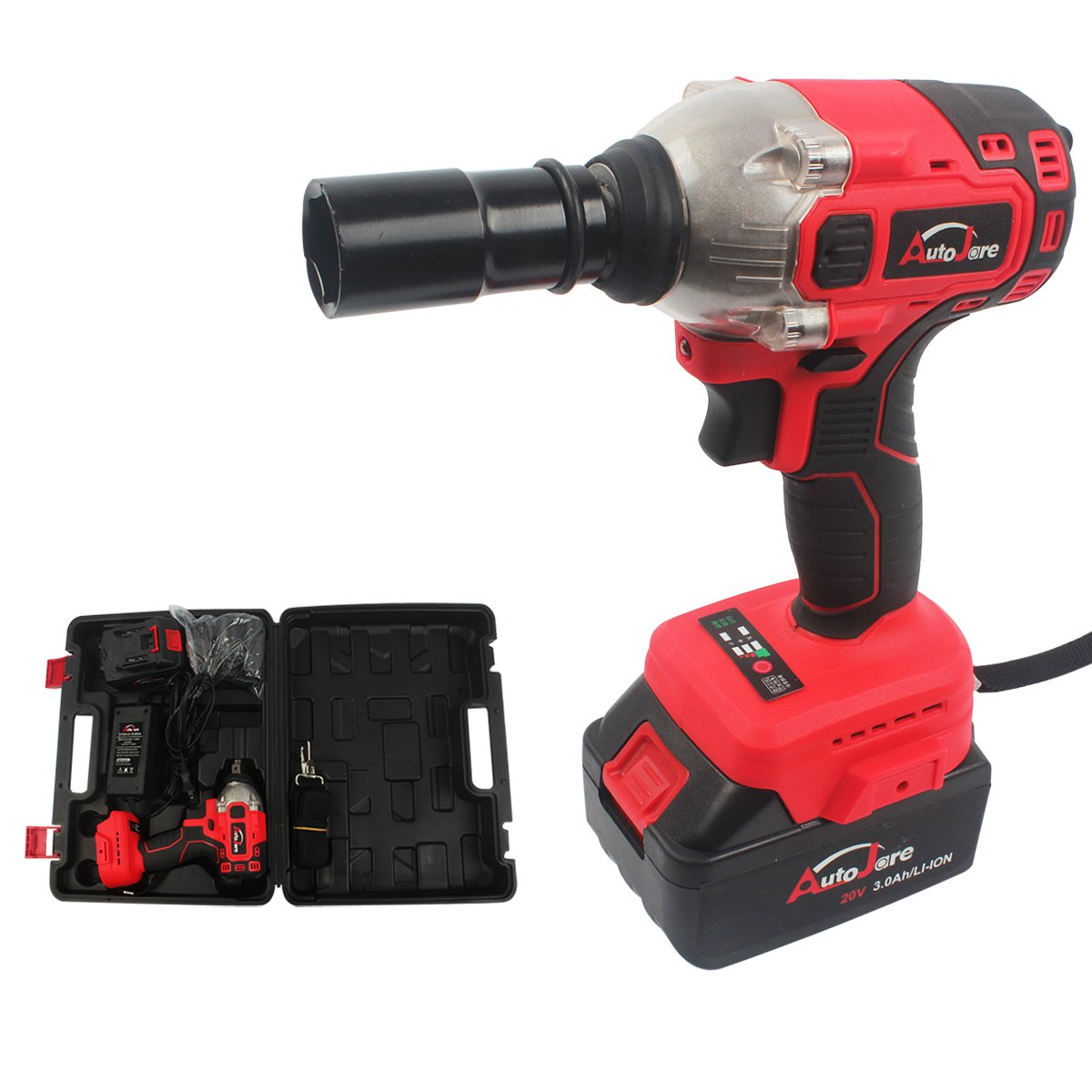 AUTOJARE Cordless Impact Wrench Kit, Brushless 20V Max Lithium-Ion 1/2 Inch Cordless Wrench Kit by AUTOJARE