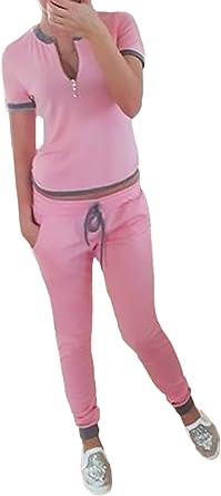 Mujer Conjuntos Pantalon Y Camisetas Sudaderas 2 Piezas Conjunto ...