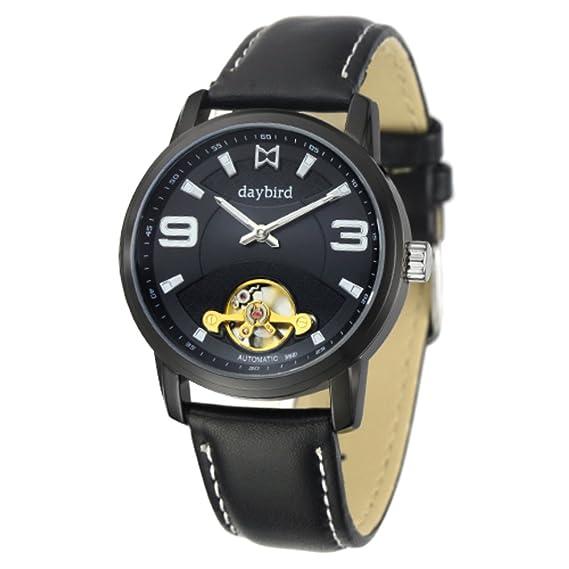 reloj del negocio de los relojes mecánicos de los hombres/A prueba de agua reloj mecánico automático hueco-C: Amazon.es: Relojes
