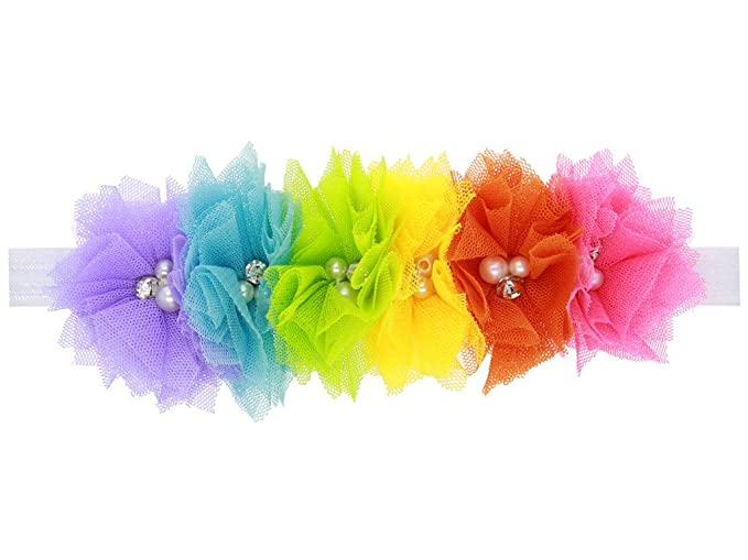 New MultiColoured Feather Headband Hair Accessories Girls Baby Toddler Kids gift