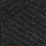 Waterhog Premier Black Smoke 3' x 8' Entrance Mats - Smooth Back, Rubber Border