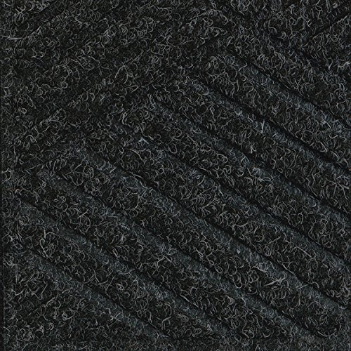 [Waterhog Premier Black Smoke 3' x 8' Entrance Mats - Smooth Back, Rubber Border] (Premier Entrance Mat)