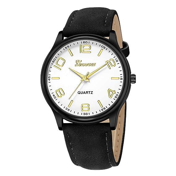 JiaMeng Mujer Reloj de Casual, Reloj de Pulsera de Cuarzo analógico de Cuero de Acero