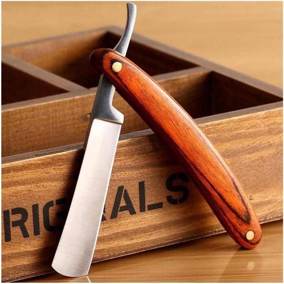 Cuchillo de afeitar antiguo de la vendimia Borde recto de acero ...