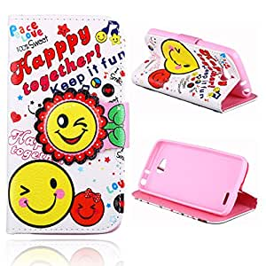 L90 Case,LG L90 Case,XYX [Kickstand] Fashion [SunFlower - Happy Together] Premium PU Leather Wallet Case With Stand Flip Cover For LG Optimus L90